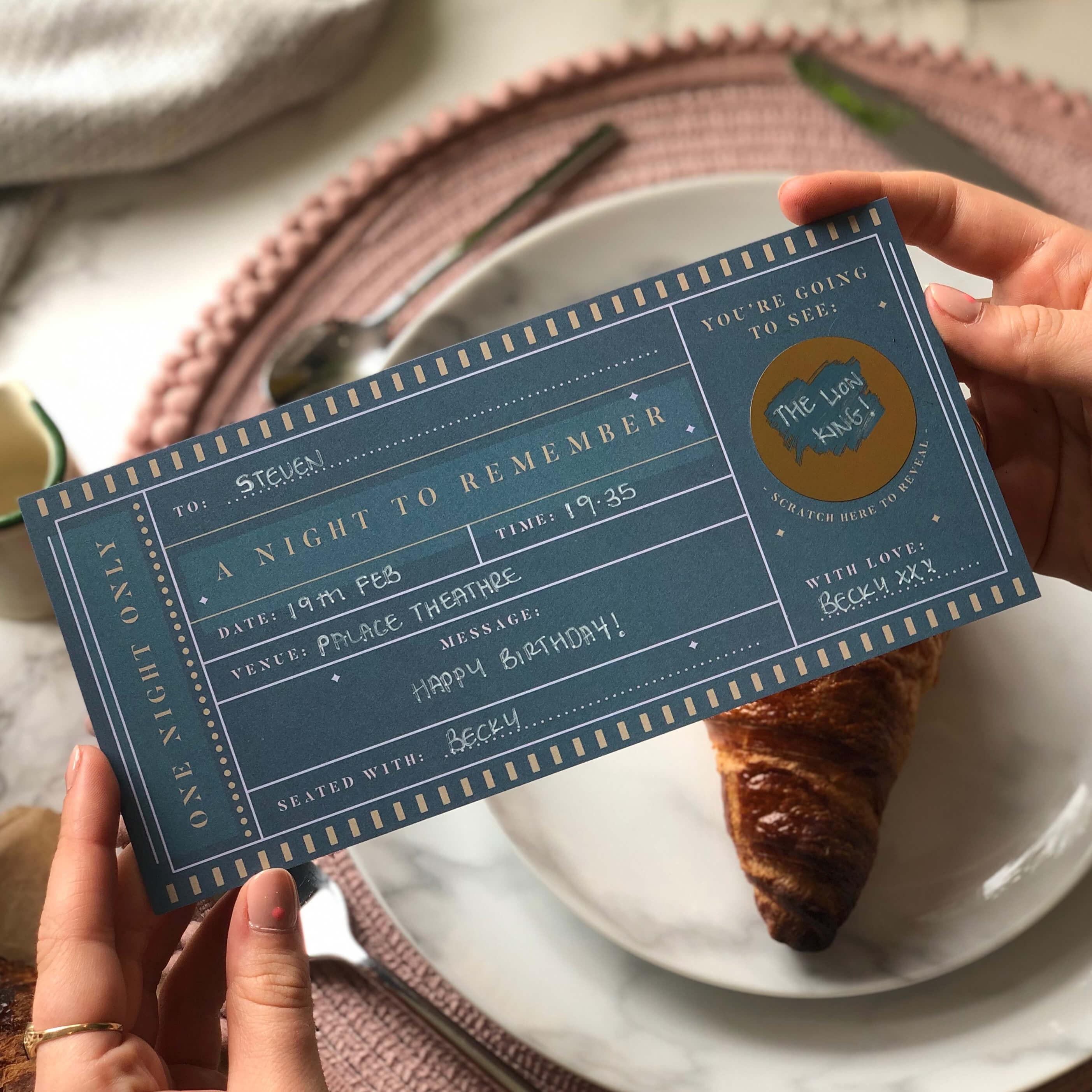 Theatre Scratch Off Ticket - Designed by Rodo Creative