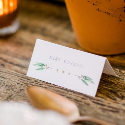 Botanical Wedding Place Cards - By Rodo Creative in Manchester, North West England.