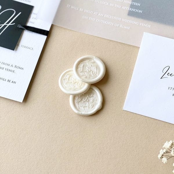 White Ink Vellum - Designed by Rodo Creative - Wedding stationery and greetings card design