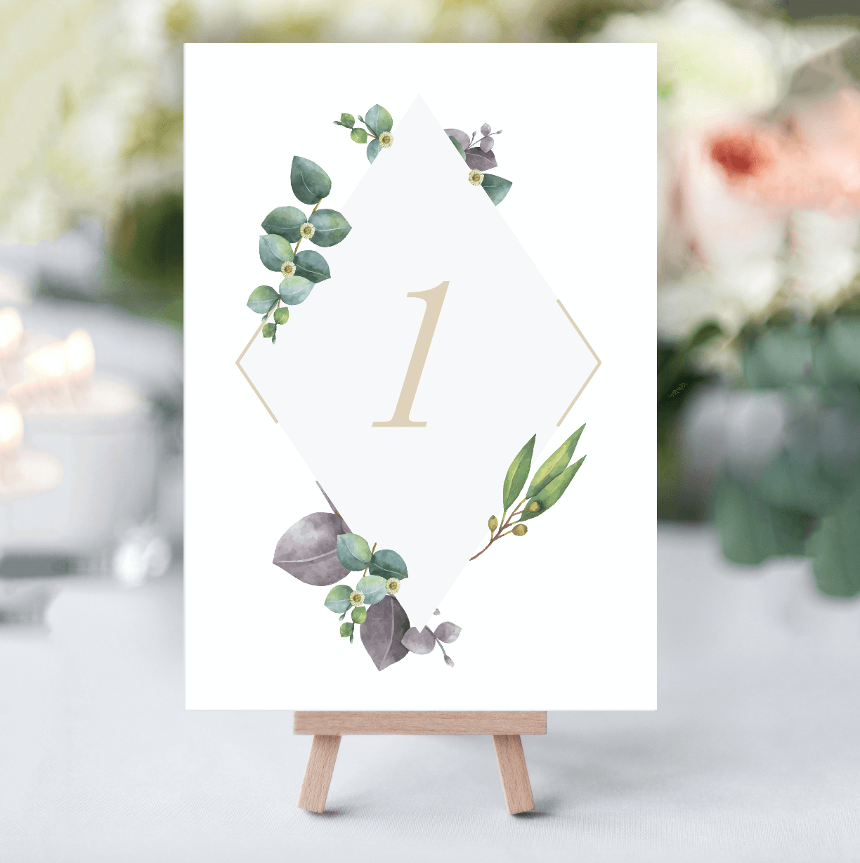Delicate Foliage Table Numbers - designed by Rodo Creative in Manchester