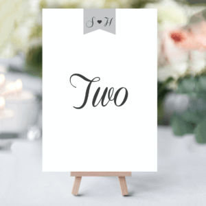 Elegant Type Table Numbers - Designed by Rodo Creative in Manchester