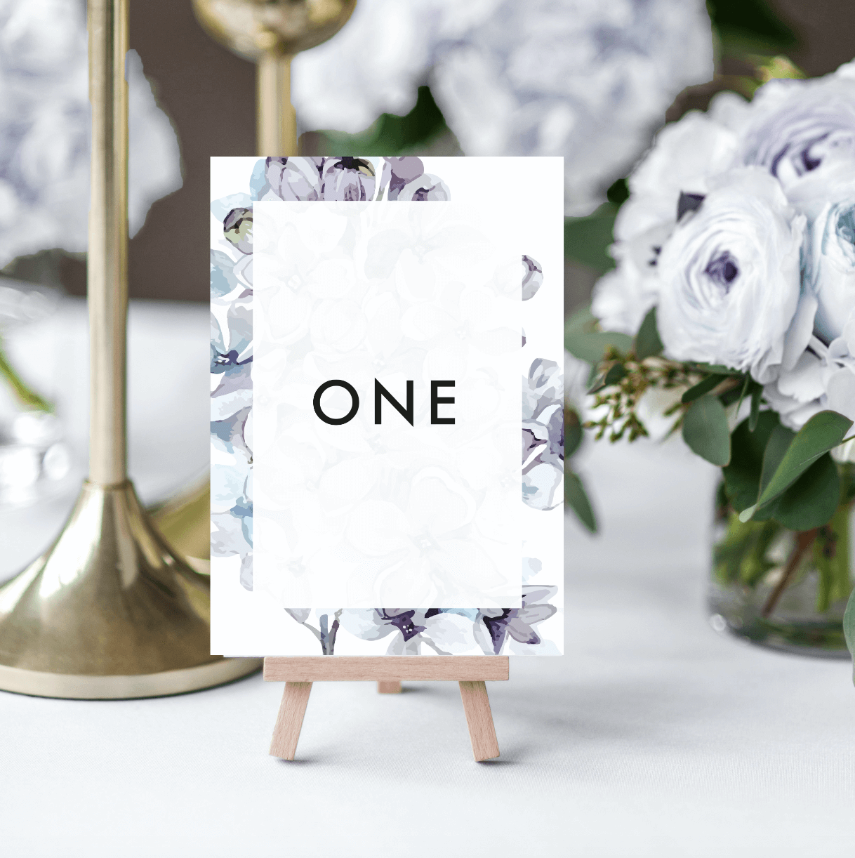 Lilac Petals Table Numbers - Designed by Rodo Creative in Manchester