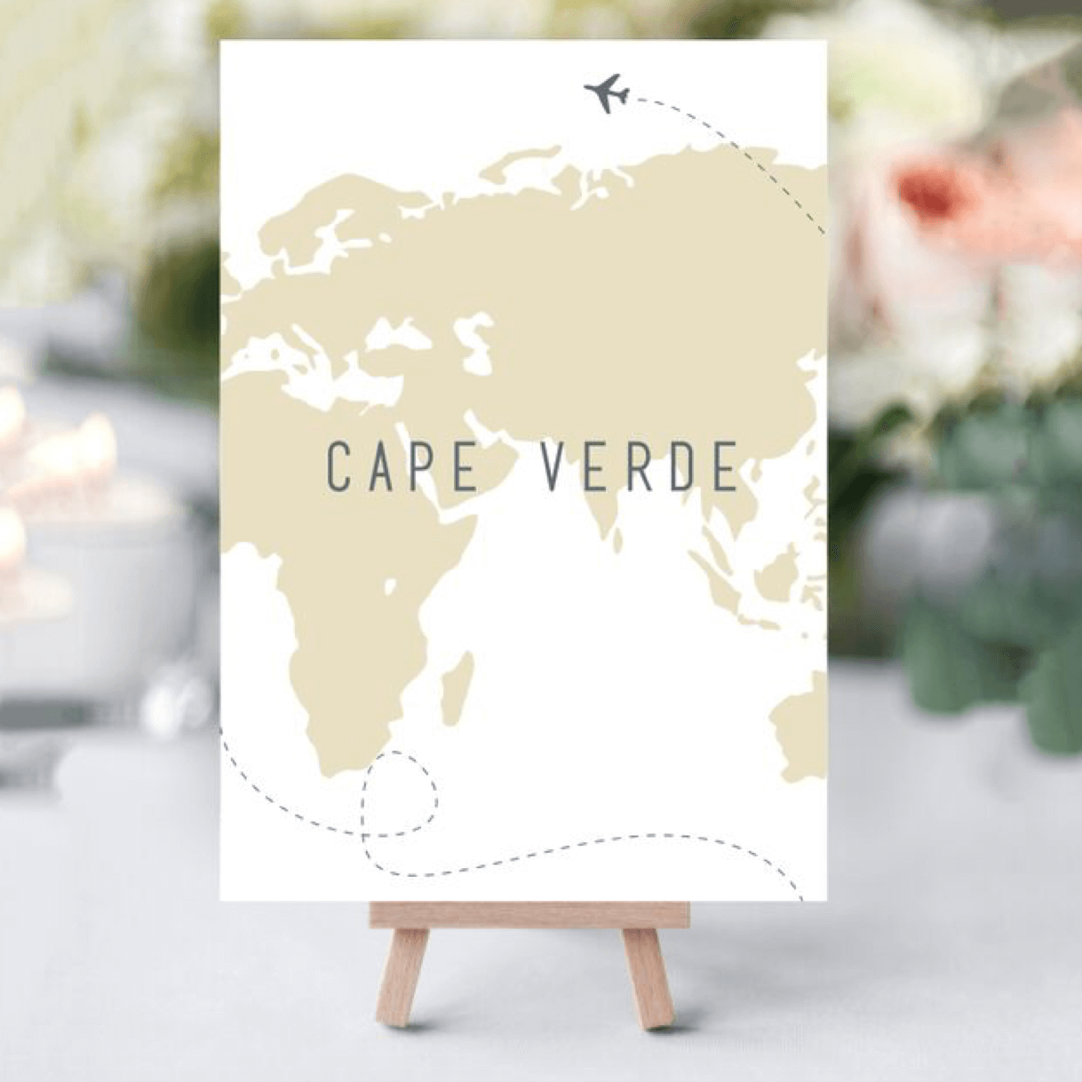Where in the World Table Names- Designed by Rodo Creative, Manchester