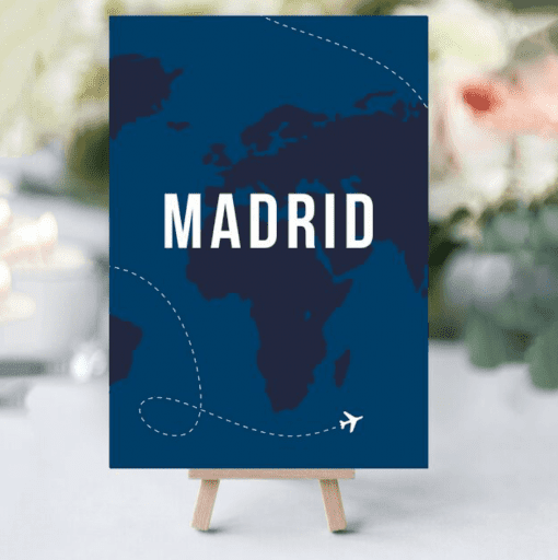 50s Travel Table Names - Designed by Rodo Creative in Manchester