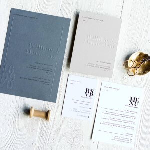 Blind Embossed Wedding Invitations - Designed by Rodo Creative, Manchester