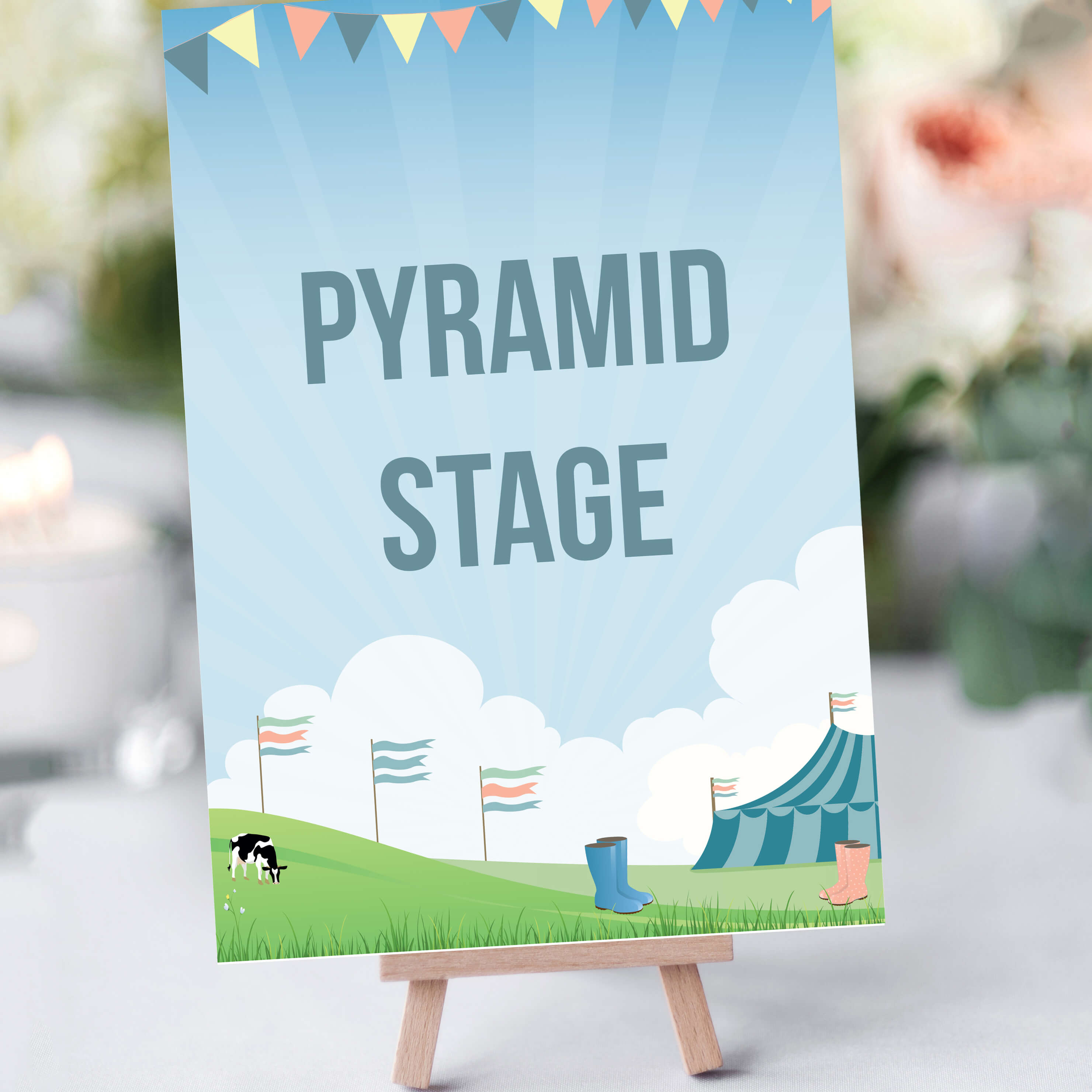 Festival Table Names for Weddings and other events - By Rodo Creative