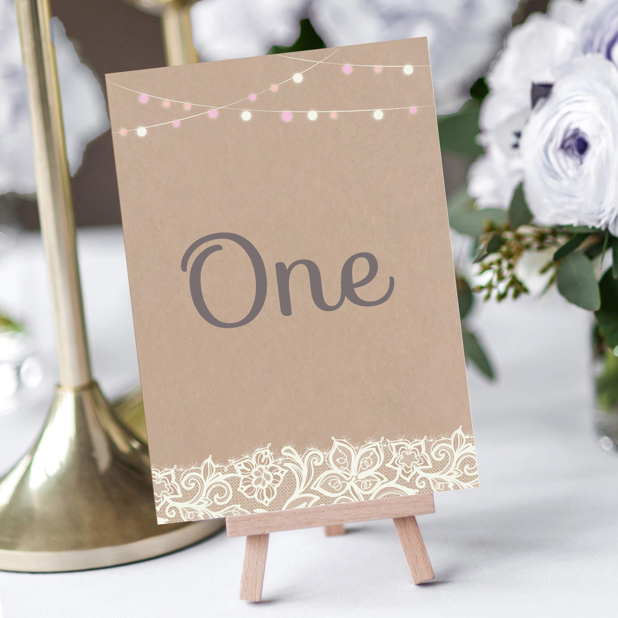 Festooned Lace Table Numbers Designed by Rodo Creative in Manchester