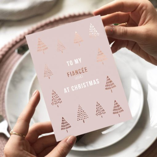 Fiancee Christmas Card Designed by Rodo Creative in Manchester