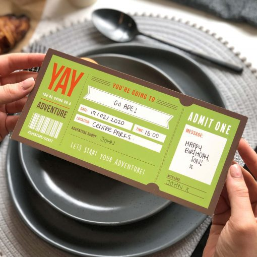 Adventure Ticket - Give the Gift of an activity - Designed by Rodo Creative