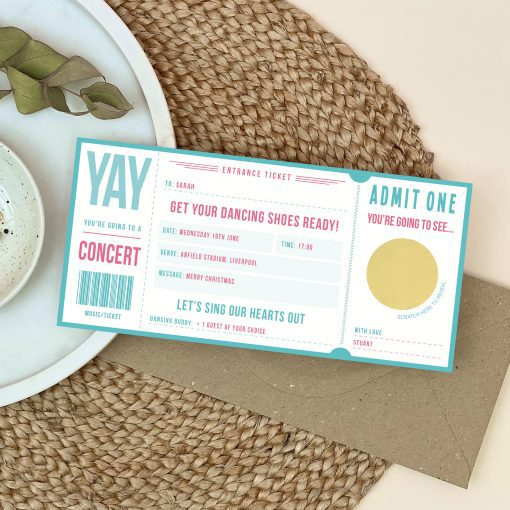 Scratch Off Music Ticket - Designed by Rodo Creative