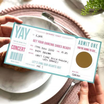 Scratch off Music Ticket - Designed by Rodo Creative in Manchester