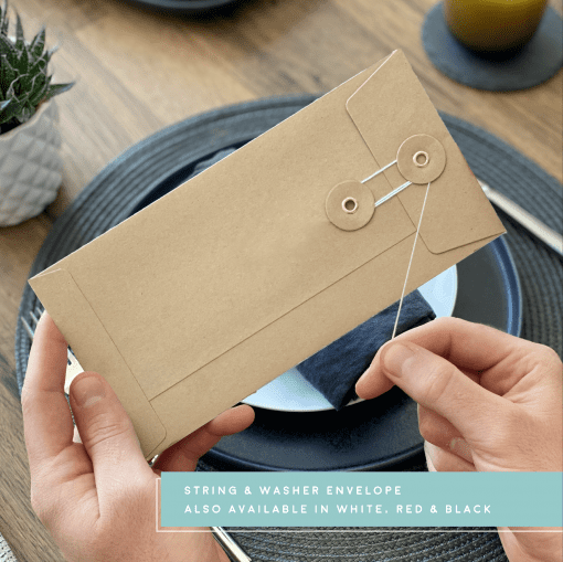 Rodo Creative String and Washer Envelope - Kraft