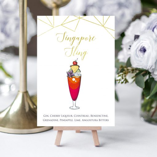 Cocktail Table Names - Unique table names by Rodo Creative, Manchester
