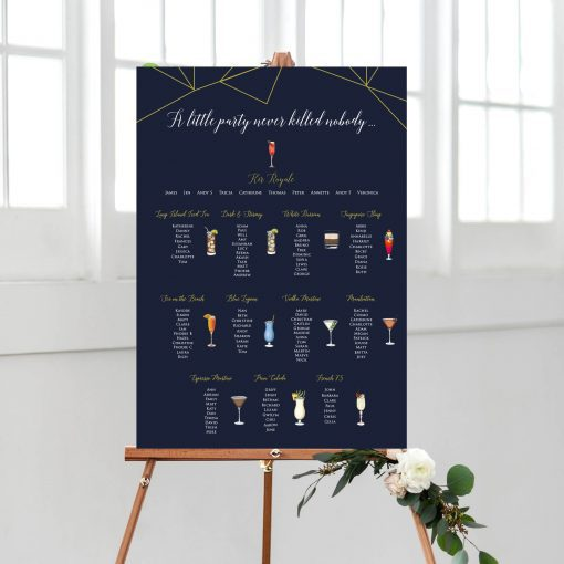 Cocktail Table plan for a Wedding or Special Occasion - By Rodo Creative