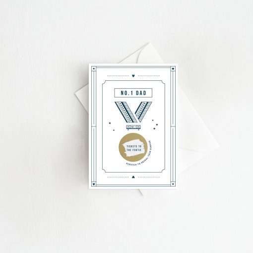 No.One Dad Medal Scratch Card - Designed by Rodo Creative in Manchester