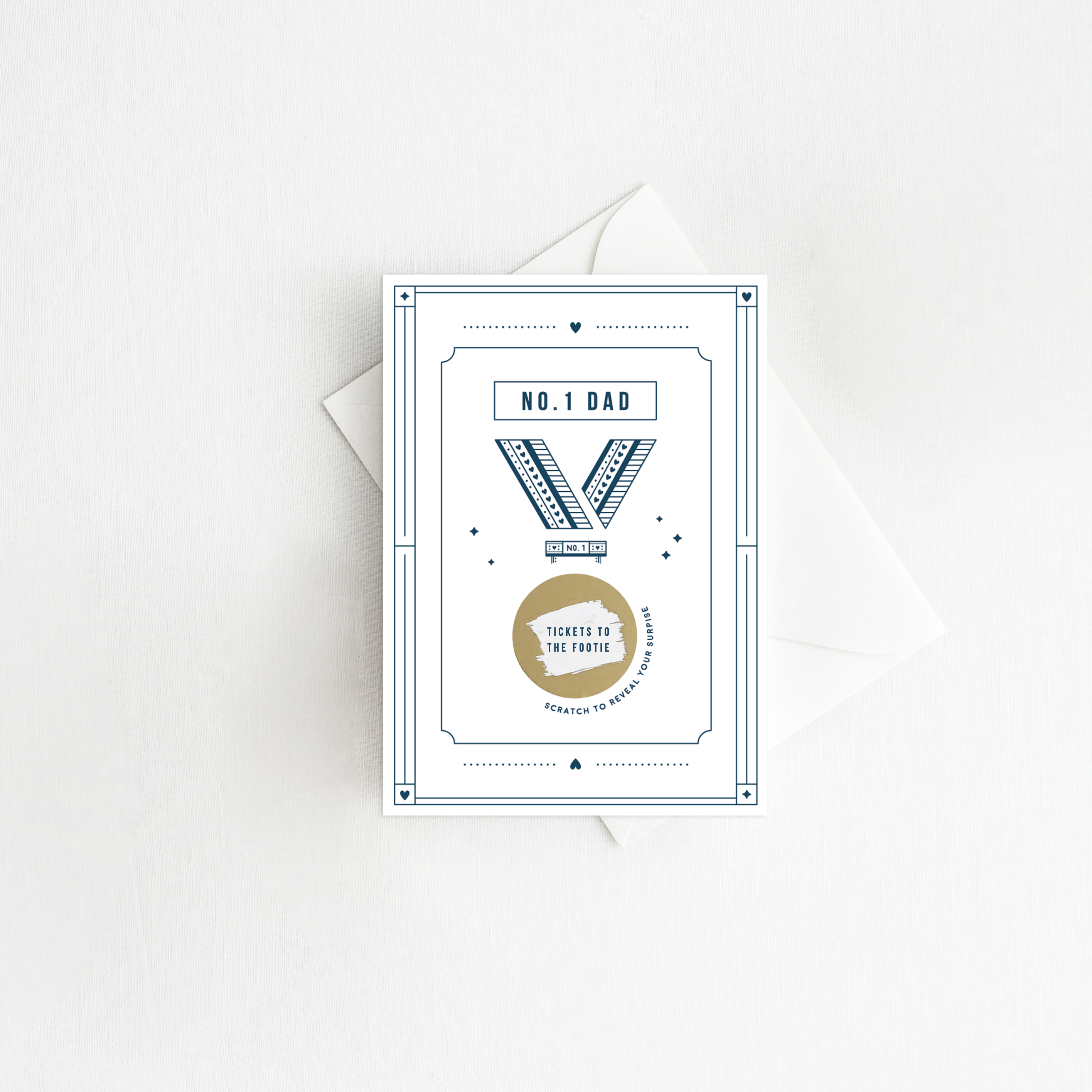 No.One Dad Scratch Card - Designed by Rodo Creative in Manchester