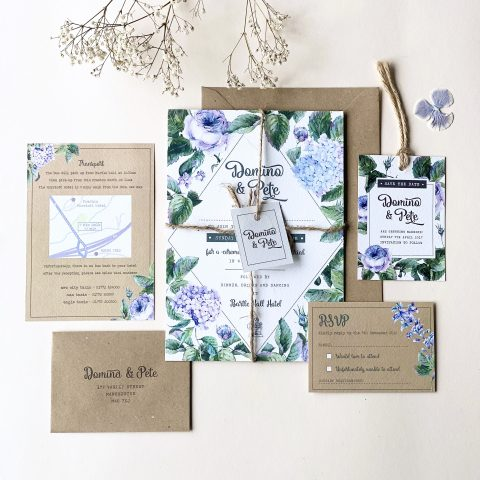 Wild Wedding Rose Stationery - Designed by Rodo Creative