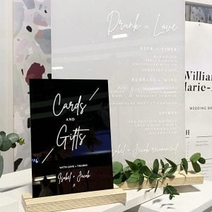 Acrylic Cards and Gifts Sign - Modern Wedding Signage by Rodo Creative