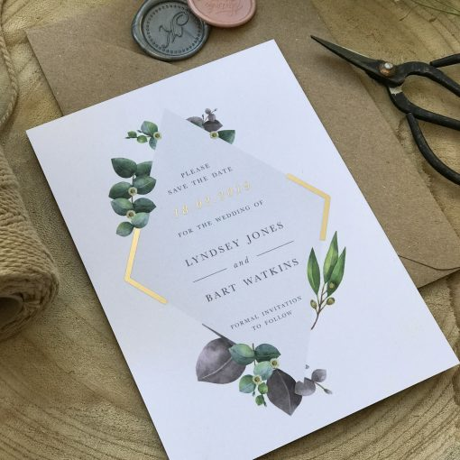 Botanical Diamond Save the Date - Designed by Rodo Creative