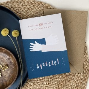 Squeeze Hug Card - A beautiful paper hug card designed in Manchester.