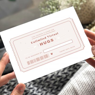 Virtual Hug Coupon Card - Now Send Direct! - Designed by Rodo Creative