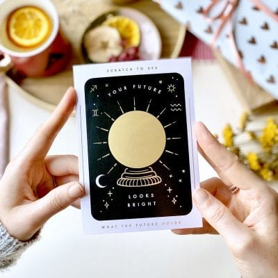 Your Future Looks Bright Scratch Card - Designed by Rodo Creative