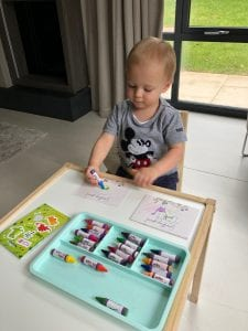 thinking of you cards - thoughtful way to keep the children busy