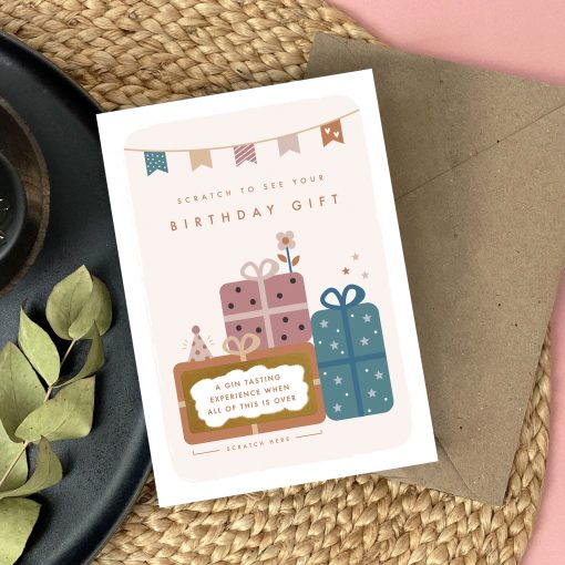 Birthday Gift Surprise Scratch Card - Designed by Rodo Creative - Wedding stationery and greetings card design