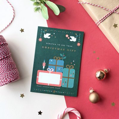 Traditional Christmas Gift Scratch Card - Designed by Rodo Creative
