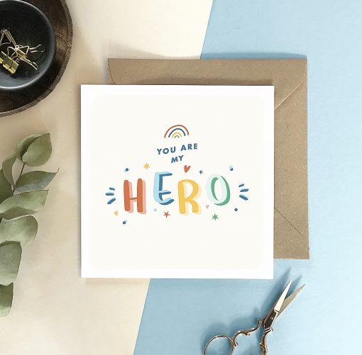 You Are My Hero Card - Designed by Rodo Creative - Wedding stationery and greetings card design