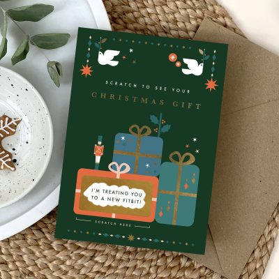 Traditional Christmas Gift Scratch Card - Designed by Rodo Creative - Wedding stationery and greetings card design