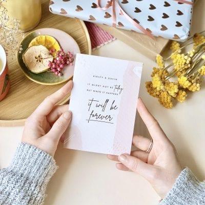 Postponed Wedding Card - Designed by Rodo Creative