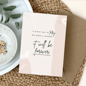 Postponed Wedding Card - Designed by Rodo Creative - Wedding stationery and greetings card design