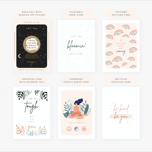 Pack of Six Positive Postcards - Designed by Rodo Creative