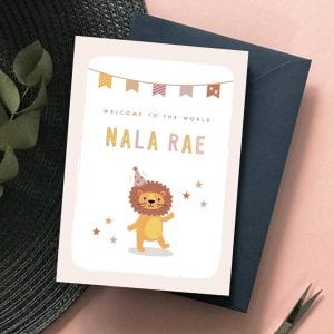 Personalised New Baby Card - Designed by Rodo Creative