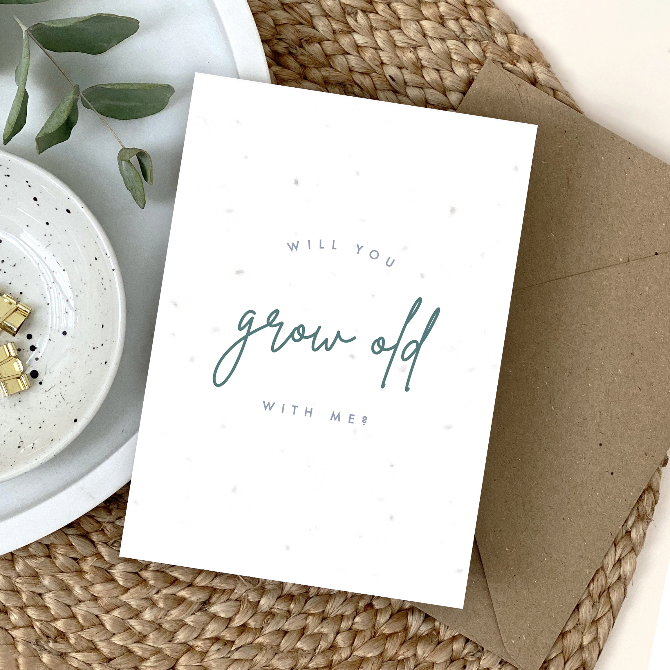 Will You Grow Old With Me Plantable Card - Designed by Rodo Creative
