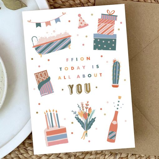All About You Birthday Card - Designed by Rodo Creative