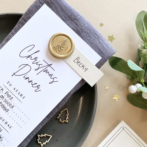 Modern Christmas Menu With Place Card - Designed by Rodo Creative