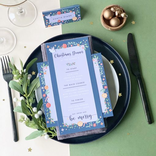 Illustrated Christmas Menu - Designed by Rodo Creative