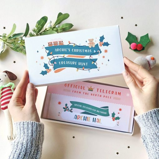 Christmas Scratch Treasure Hunt - Designed by Rodo Creative - Wedding stationery and greetings card design
