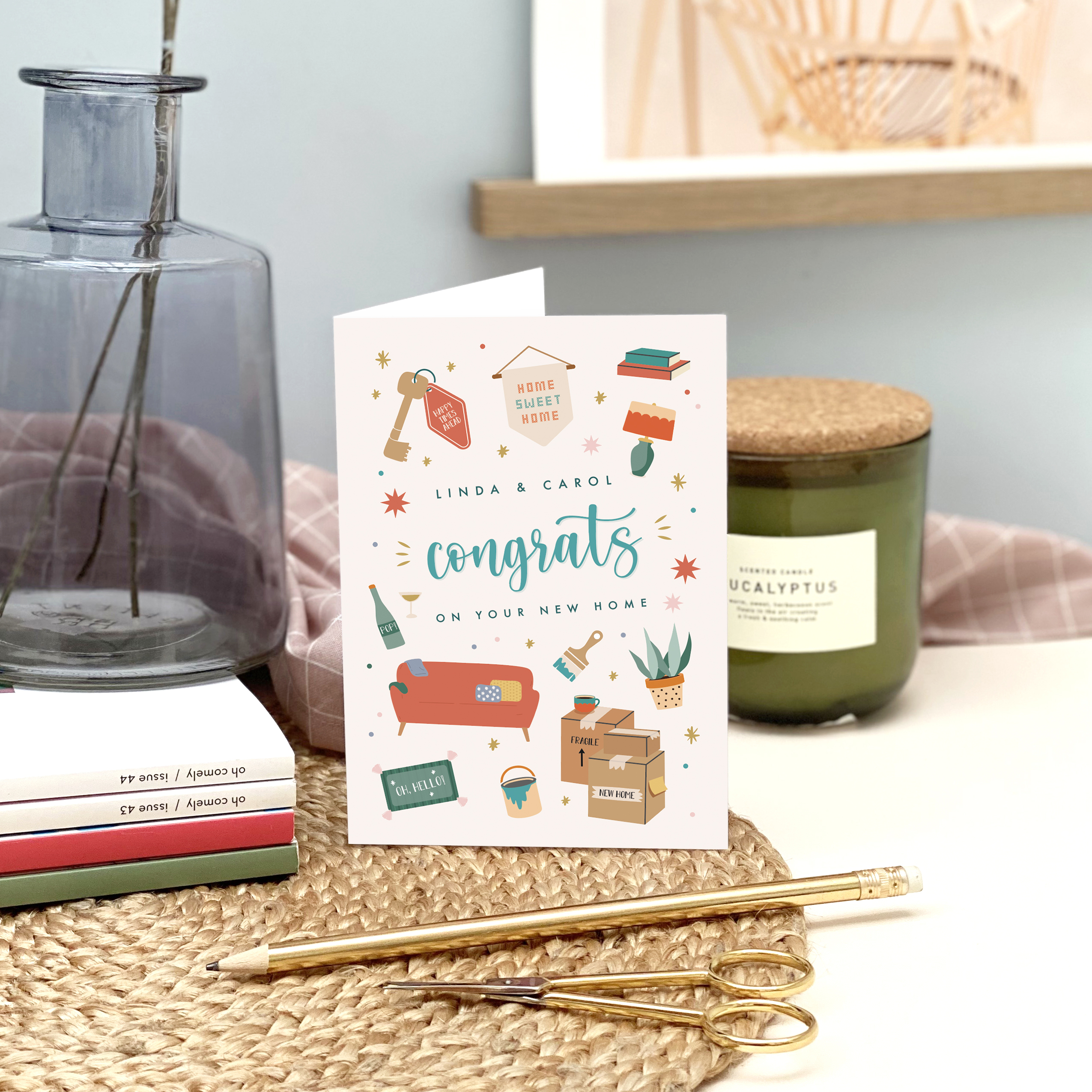Personalised New Home Card - Designed by Rodo Creative