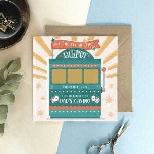 Dad's Jackpot Scratch Card - Designed by Rodo Creative in Manchester