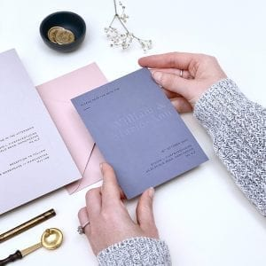 Minimal Blind Embossed Save the Date designed by Rodo Creative