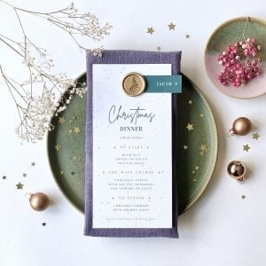 Eco Friendly Christmas Menu With Plantable Seed Paper - Designed by Rodo Creative