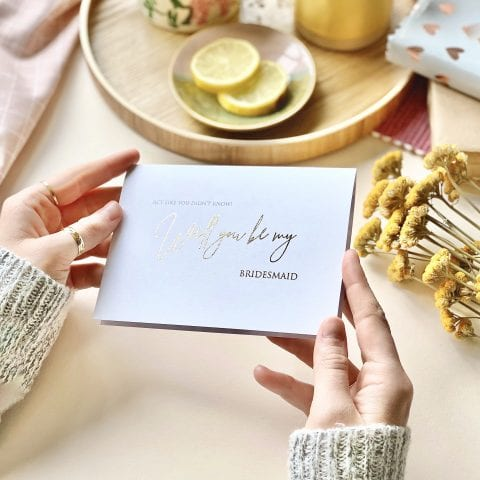 Will You Be My Bridesmaid Gold Card - Designed by Rodo Creative