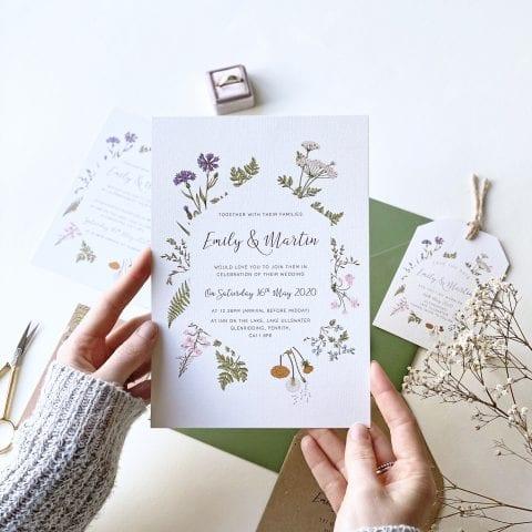Botanical Garden Wedding Invitations - Designed by Rodo Creative