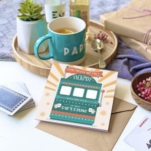 Dad's Jackpot Scratch Card - Designed by Rodo Creative