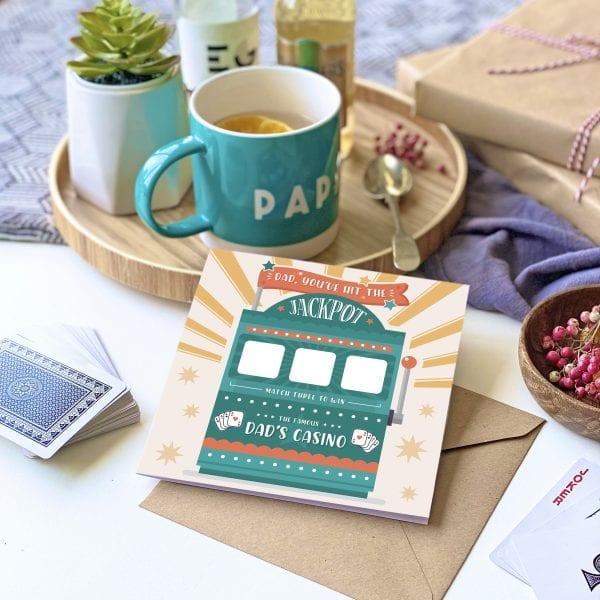 Dad's Jackpot Scratch Card - Designed by Rodo Creative