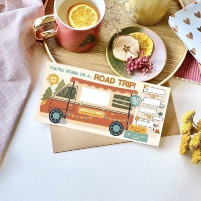 Road Trip Scratch Reveal Ticket - designed by Rodo Creative in Manchester